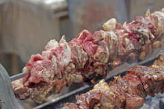 Souvla Kebab close up Royalty Free Stock Photography