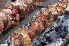 Souvla Kebab zakończenie up Fotografia Stock
