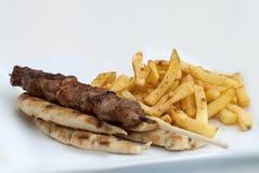 Souvlak greco fotografie stock