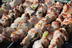 Souvlaki barbecue Stock Photo