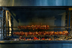 Souvlaki on charcoal Stock Images