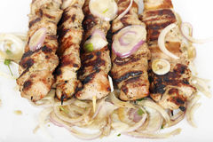 Souvlaki dish Royalty Free Stock Images