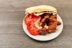 Souvlaki grec de porc de repas image libre de droits image 10109356 - Restaurant la table du grec ...