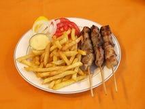 Souvlaki grego Imagem de Stock