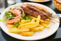 Souvlaki or kebab. Royalty Free Stock Images