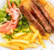 Souvlaki or kebab. Stock Photos