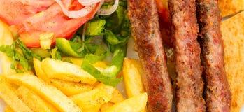 Souvlaki or kebab. Stock Images