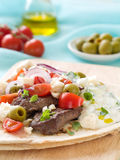 Souvlaki with pita Royalty Free Stock Image