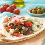 Souvlaki with pita Stock Images