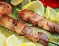 Souvlaki - skewer. Stock Photography