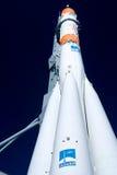 Souz-Rakete gegen bewölkten Himmel lizenzfreies stockbild