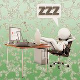 sova arbetare för kontor Arkivfoton