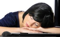sova för affärskvinna Royaltyfria Foton