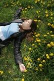 sova för flicka Royaltyfri Foto