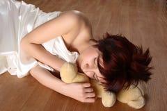 sova för flicka Arkivbilder