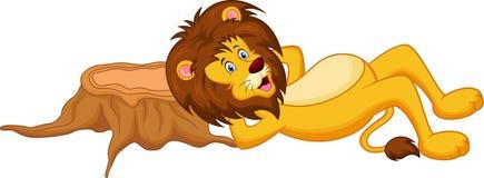Sova för lejontecknad film Royaltyfri Foto
