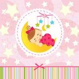 Sova för liten flicka Royaltyfri Bild