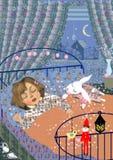 Sova för liten flicka Royaltyfri Fotografi