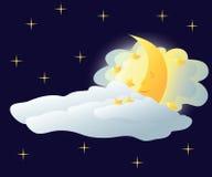 sova för moon Royaltyfri Fotografi