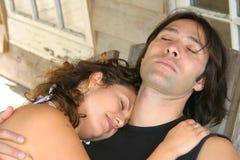sova för par Royaltyfri Fotografi
