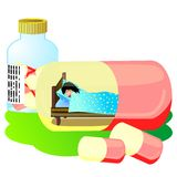 sova för pill Royaltyfri Fotografi