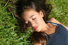 sova för skönhet Arkivfoton