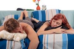 sova för sovrumpar Royaltyfri Fotografi
