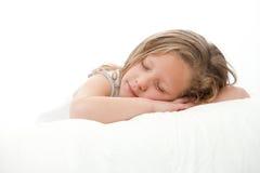 sova för stående för flicka högt key Royaltyfria Bilder