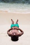 sova för strand Fotografering för Bildbyråer
