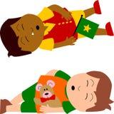 sova för ungar Arkivbild