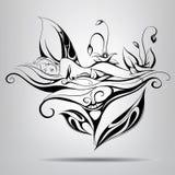 Sova fen. Vektorillustration Arkivfoto