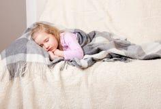 Sova flicka Fotografering för Bildbyråer