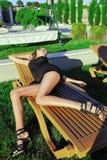 Sova flickan Royaltyfri Bild