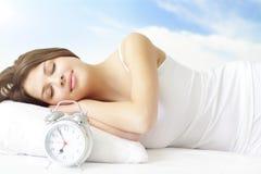 sova för flicka Royaltyfria Foton