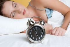 sova kvinna arkivfoton