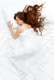 sova kvinna Arkivbild