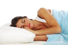 sova kvinna Royaltyfria Bilder