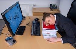 sova kvinna för affär Royaltyfria Foton