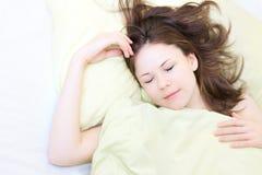 sova kvinnabarn Arkivfoto
