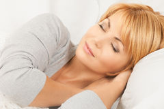 Sova kvinnan Arkivfoto