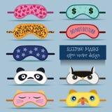 Sova maskeringsdesignillustrationen royaltyfri illustrationer