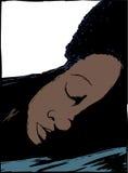 Sova Person Close Up stock illustrationer