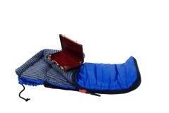 sova resväska för påse arkivfoton