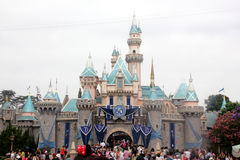 Sova skönhetslotten, Disneyland, Kalifornien Arkivbilder