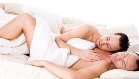 sova tillsammans Royaltyfria Foton