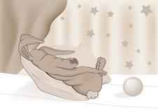 sova toy för kanin royaltyfri illustrationer