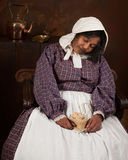 sova victoriankvinna Royaltyfri Bild