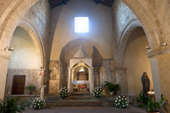 Sovana (Tuscany), church interior Stock Photography