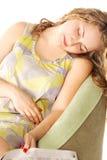 sovande fallet Fotografering för Bildbyråer
