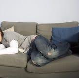sovande sofa royaltyfri fotografi